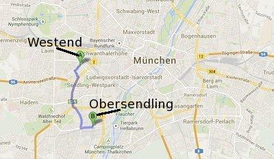 München Westend und Obersendling